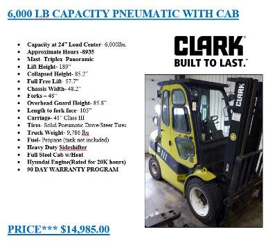 Clark Forklifts are Built To Last! Shop Our Clark Lift Truck Deal Today.