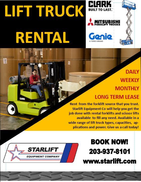 Forklift, Scissor Lift & Aerial Lift Rentals in CT & MA